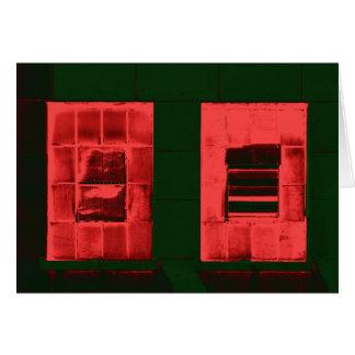"""Röda Windows "", Hälsningskort"
