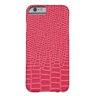 Rödaktigt rosa fodral för Snakeskin designiPhone Barely There iPhone 6 Skal