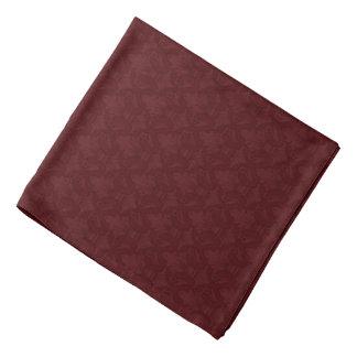 Rödbrun Bandana för mönster Fleur-de-lis