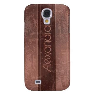 Rödbrun bedrövad Grungemarmor Galaxy S4 Fodral