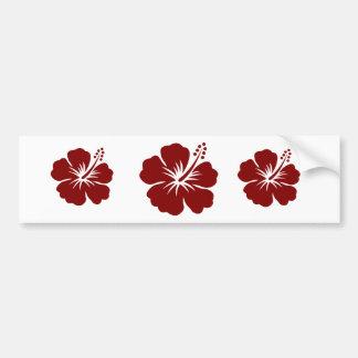 Rödbrun hibiskusblomma bildekal