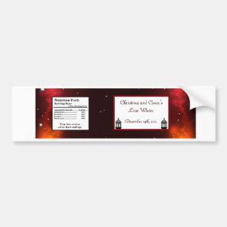 Rödbrun marockansk lykta för vattenflaskaetikett bildekal
