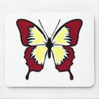 Rödbrun och gul fjäril mus mattor