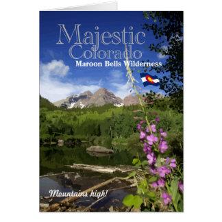 Rödbruna Klockor - majestätiska Colorado Hälsningskort