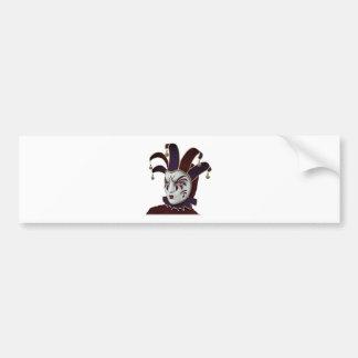 Rödbruna och purpurfärgade Venetian Carnivale Bildekal