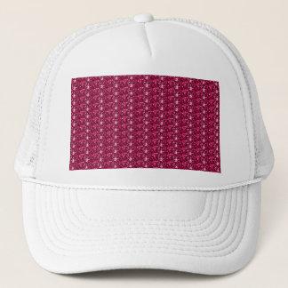 Rödbrunt glitter för hatt truckerkeps