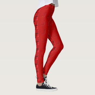 Rödbrunt mönster 4Michaela Leggings