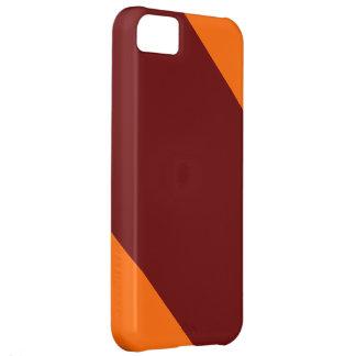 Rödbrunt och Orange-Görat randig IPhone 5 fodral