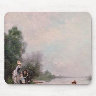 Rodd på floden, 19th århundrade musmatta