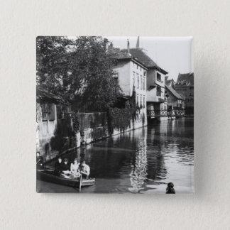 Rodd på floden Gera på Erfurt Standard Kanpp Fyrkantig 5.1 Cm
