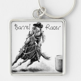 rodeo fyrkantig silverfärgad nyckelring