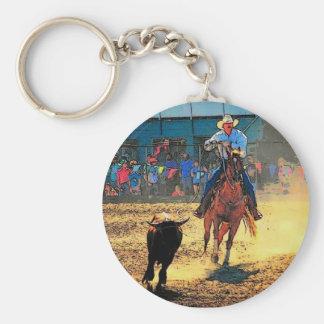Rodeo Keychain Rund Nyckelring