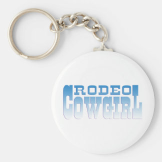 RODEOCOWGIRL RUND NYCKELRING