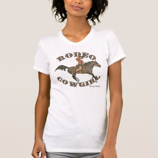RodeoCowgirlpinup Tee Shirts