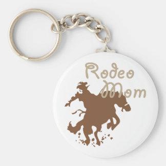 Rodeomamma Rund Nyckelring