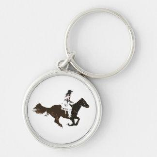 rodeos rund silverfärgad nyckelring