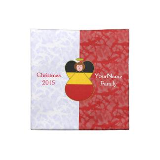 Rödhårig röd vit för tysk ängelflagga tygservett