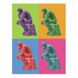 Rodins tänkare - popkonst vykort