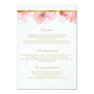 Rodna blom- guld- bröllop specificerar - 8,9 x 12,7 cm inbjudningskort