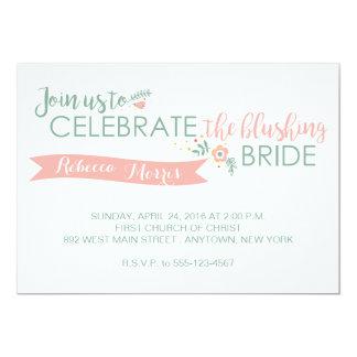 Blushing Bride Shower Invitation