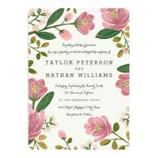 Rodna bukettbröllop 12,7 x 17,8 cm inbjudningskort