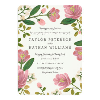 Rodna bukettbröllopinbjudningar 12,7 x 17,8 cm inbjudningskort
