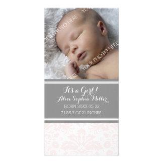Rodna damastast meddelande för fotonyfödd fotokort