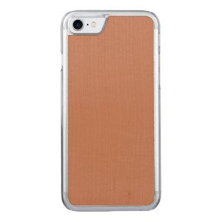 Rodna guld förkopprar brunt carved iPhone 7 skal