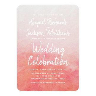 Rodna inbjudan för rosa- & 11,4 x 15,9 cm inbjudningskort