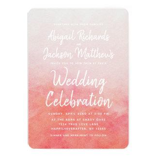 Rodna inbjudan för rosa- & 12,7 x 17,8 cm inbjudningskort