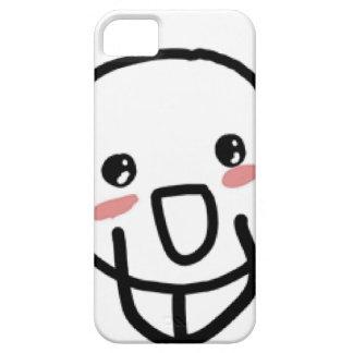 Rodna komiskt ansikte iPhone 5 skal