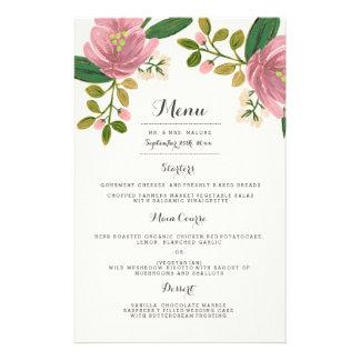 Rodna meny för bukettbröllopmiddag
