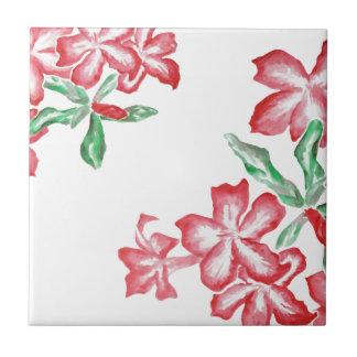 Rodna röda blommor liten kakelplatta