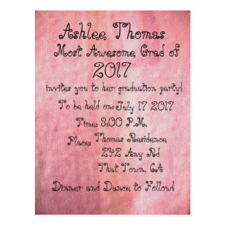 Rodna rosa beställnings- studentfestinbjudningar vykort