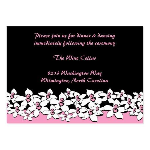 Rodna rosa kort för blommamottagandemellanlägg visitkort mall