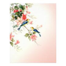 Rodna rosa vit för vintagelove birds | brevhuvud
