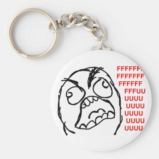 rofl för lol för meme för ursinneansikteursinne ko nyckelringar