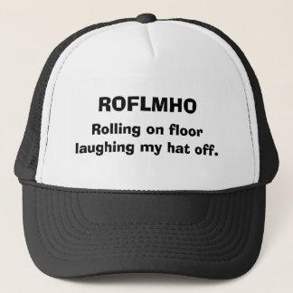ROFLMHO som är rullande på golv som av skrattar Keps