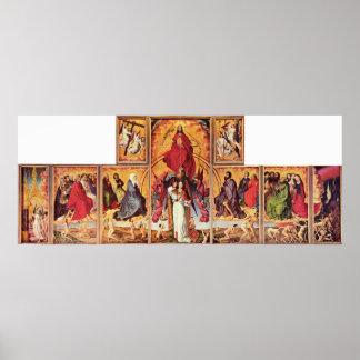 Rogier skåpbil der Weyden - altare av sist bedömni Poster