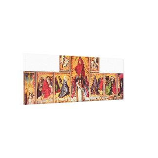 Rogier skåpbil der Weyden - altare av sist Canvastryck