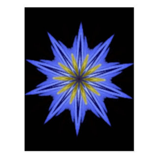 Rogivande hypnotisk gul blåttblommigtKaleidoscope Vykort