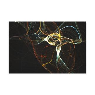 Röka abstrakt konst canvastryck