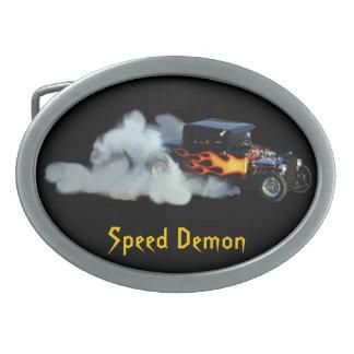 Röka den flammande friktionsbilspeedwayet spänner