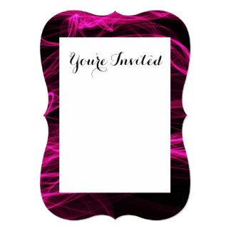 Röka design för shock rosasvartabstrakt 12,7 x 17,8 cm inbjudningskort