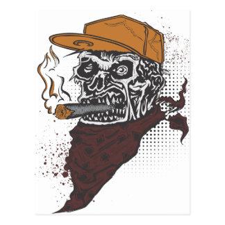 Röka för skalle vykort