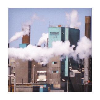 Röka stadskanvastrycket canvastryck
