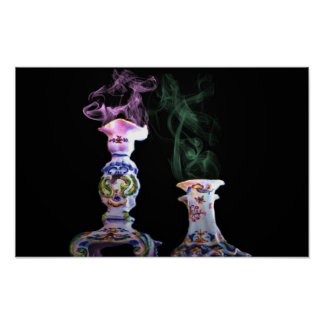 röka vaser, kanfas poster