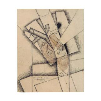 Rökaren, 1912 (kol & röd krita på papper) trätavla