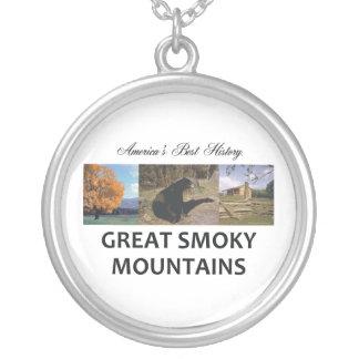Rökiga berg för ABH Silverpläterat Halsband