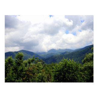 Rökiga berg vykort